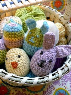egg-shaped easter pals - free pattern