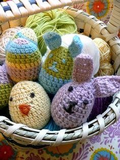 Hippity Hopp, free egg/chick/bunny pattern by Linda Permann