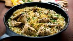 Easy Chicken With Rice Recipe . You can make a big deal out of chicken with rice -- at its zenith, it becomes paella -- but it is a dish that takes well to Chicken And Rice Dishes, Easy Chicken And Rice, Chicken Rice, Onion Chicken, Stewed Chicken, Sticky Chicken, Rice Recipes, Chicken Recipes, Cooking Recipes