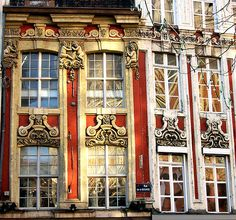 Old windows in Vieux Lille - Nord, France