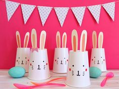 Fun Easter game - make this super quick and easy Bunny Bowling game! FUN!