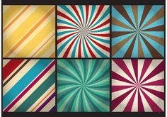 Retro Sunburst Vector Backgrounds