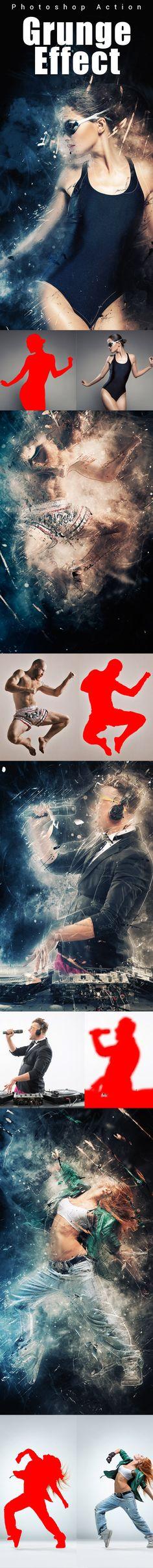 #Grunge Photoshop Action - #Actions #PSAction #Photoshop #PS #Graphicriver #PhotoEffects #Design #DigitalArt