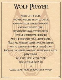Wolf Prayer Poster 8 1/2 x 11 Treasures Stones Crystals & More $4.50 Free shipping http://smile.amazon.com/dp/B006L37N4G/ref=cm_sw_r_pi_dp_1AIdub0BQ3EAF