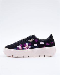 Puma Suede Platform Trace Flowery - 367810-02 - Purple abac3679e