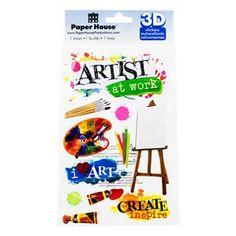 Art Class 3-D Sticker Embellishments