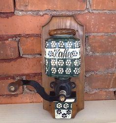 Vintage+Polish+pottery+coffee+grinder+ceramic+by+Oldtreasures98 $85