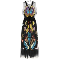 Mary Katrantzou Monroe intarsia plissé-tulle midi dress ($5,150) ❤ liked on Polyvore featuring dresses, black, tulle cocktail dresses, multi colored dress, corset cocktail dress, midi dress and corset dress
