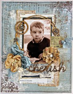 8 1/2 x 11 layout by Patter Cross using the new Blue Fern Studios Sanctuary papers.