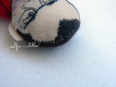 personalised handmade fabric doll, portrait doll, embroidery, hair detail