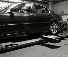 Jaguar X Type gets full wheel alignment set-up. Jaguar X, Wheel Alignment, Edinburgh, Type, Car, Centre, Check, Automobile