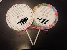 sister's Candy theme baby shower invite  @Stephanie Close Close Southam @Angelica Suarez Suarez Grannis