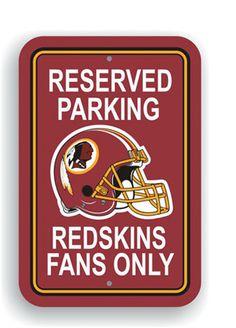 Washington Redskins NFL 12 x 18-inch Parking Signs | Man Cave Kingdom