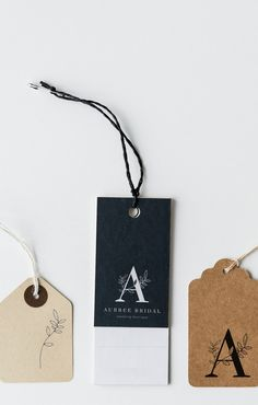 Portfolio Aubree Bridal Fraser Co Design Graphisches Design, Label Design, Packaging Design, Branding Design, Hangtag Design, Business Logo, Business Card Design, Price Tag Design, Floral Logo