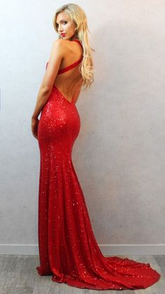 Pretty Mermaid Evening Dresses With Long Sleeveless Backless Lace ...