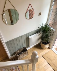 Entrance Hall Decor, House Entrance, Hall Way Decor, Tongue And Groove Panelling, Wall Panelling, Diy Interior Wall Paneling, Paneling Walls, Living Room Panelling, Small Hallway Decorating