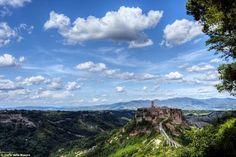 Beautiful: Italy's landscape is dotted with ghost towns like this one, Civita di Bagnoregg...