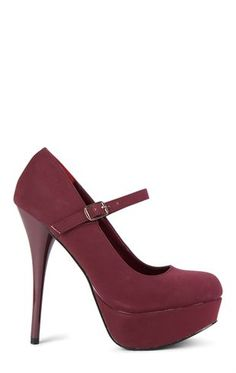 Deb Shops Round Toe Platform Mary Jane High Heel $22.50