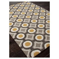 You should see this Brio Gold  Gray Geometric 2' x 3' Rug on Daily Sales!