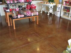 Living Room? Brown, Store Concrete Floors J Hall Design Jeffersonville, IN