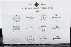 Modern Vintage Logo Templates Vol 1 @creativework247