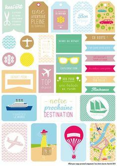 Printable etiquettes voyage à télécharger et imprimer: