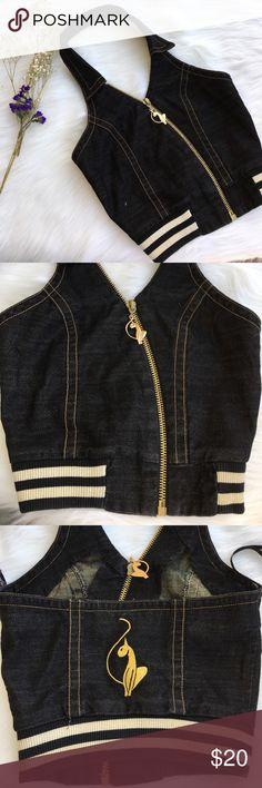 Baby Phat Cropped Denim Jacket Preloved and super cute! Baby Phat Tops Crop Tops