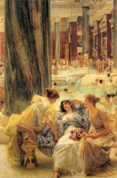 Sir Lawrence Alma-Tadema. The Baths of Caracalla. 1899.