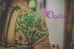 Top 12 Designer Studios In Coimbatore Are Showing The Brides What 'Wedding Trends' Are! – Part 2 Wedding Saree Blouse Designs, Pattu Saree Blouse Designs, Dress Neck Designs, Fancy Blouse Designs, Maggam Work Designs, Hand Work Blouse Design, Aari Embroidery, Embroidery Designs, Baby Taylor
