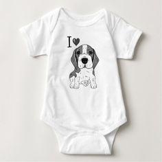 Beagle dog baby bodysuit - dog puppy dogs doggy pup hound love pet best friend