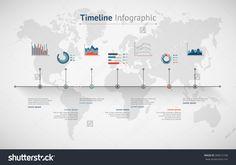 Timeline Vector Infographic. World Map - 283615166 : Shutterstock