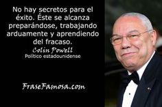 Frases de Colin Powell - Frases de Exito - Frase Famosa