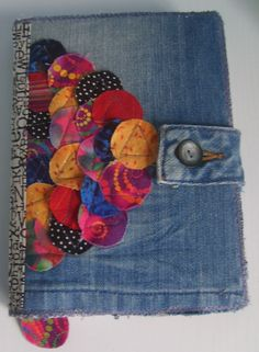 Denim and fabric Book cover