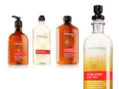 Bath and Body Works.  We are hooked on the Orange Ginger from the Aromatherapy line.  Even the candles!!