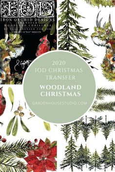 """Woodland Christmas IOD Transfer gives you 8 pages of 12""""x16"""" transfer sheets for your diy Christmas Decor. Traditional and Country Christmas designs make the Woodland Christmas a perfect design for the diy decorator. Woodland Christmas, Country Christmas, Christmas Diy, Christmas Decorations, Holiday, Iron Orchid Designs, Milk Paint, Dark Colors, Furniture Projects"""