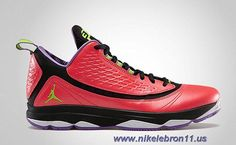 sale retailer f2c0d 74e93 New 580580-609 Jordan CP3.VI AE Bright Crimson Electric Green-Black-Violet  Pop