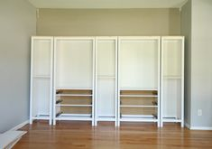 Updating The IKEA Hemnes Bookcase With Wallternatives Hey Let's. Millions of Furniture Inspiration. Ikea Hemnes Bookcase, Ikea Billy Bookcase Hack, Built In Bookcase, Bookcases, Hemnes Ikea Hack, Ikea Furniture Hacks, Home Office Furniture, Kitchen Furniture, Furniture Dolly