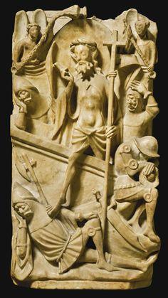 Résurrection - Angleterre - XVe siècle (début?) - 47X25 - albâtre - collection privée (vente Sotheby's)