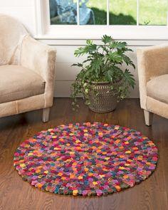 Millefleur Felted Wool Rug