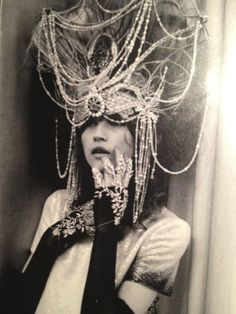 woman in london....headdress...
