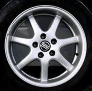 Galaxy 16 x 7 Volvo #6820001 (color 931 Dark Silver), (RWD wheel)