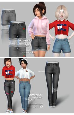 High Waist Bottoms for Female Sims KID! no ad.flu no ad.fli hope you enjoy! High Waist Bottoms for Female Sims KID! no ad.flu no ad.fli hope you enjoy! The Sims 4 Kids, Sims 4 Children, Sims 4 Toddler, Toddler Girls, Sims 3, Sims 4 Cas, Los Sims 4 Mods, Sims 4 Game Mods, Short Jeans Infantil