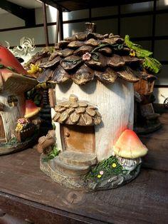Tiny fairy house from our fairy garden display.