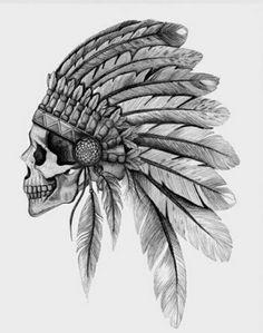 Skullface tattoo