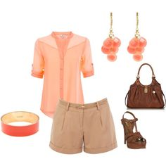 """Light Spring - coral"" by adriana-cizikova on Polyvore"