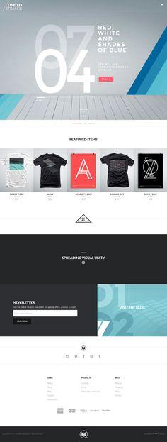 United Strands - Flat Design Website