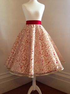 Image of Glitter Candy Canes Skirt