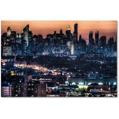 Trademark Fine Art Midtown and The Queensborough Bridge Canvas Art by David Ayash, Size: 30 x 47, Multicolor