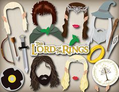 Printable Lord of The Rings Photo Booth Props The Hobbit
