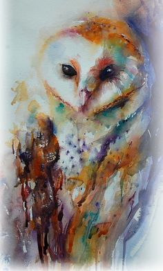 The Magic of Watercolour Painting' virtual art gallery by Jean Haines, Artist - browse and buy watercolor paintings online including landscapes, portraits, animals and action galleries Watercolor Bird, Watercolor Animals, Watercolour Painting, Simple Watercolor, Tattoo Watercolor, Watercolours, Watercolor Artists, Owl Art, Bird Art